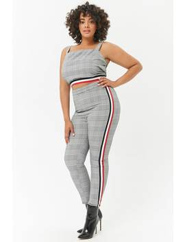 Plus Size Glen Plaid Leggings by Forever 21