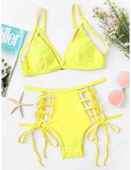 lace-up-bikini-set by romwe