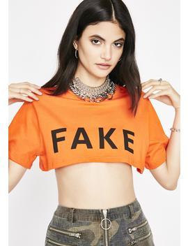 Fake Af Cropped Tee by Rock N Rose La