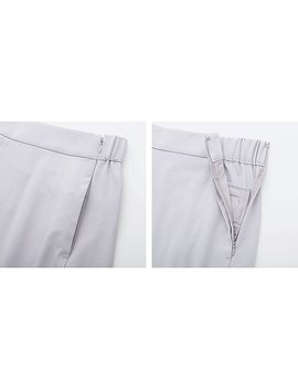 Women Drape Wide Cropped Trousers by Uniqlo