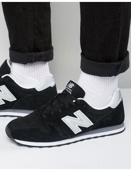 New Balance Modern Classic 373 Trainers In Black Ml373 Gre by New Balance