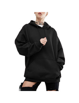 Newest Women Long Sleeve Bat Loose Sweater Outwear Jacket Hoodie Coat Fleeces by Unbranded