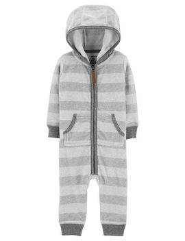 Striped Hooded Fleece Jumpsuit by Carter's
