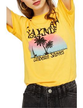 Cayman Island Print T Shirt by Topshop