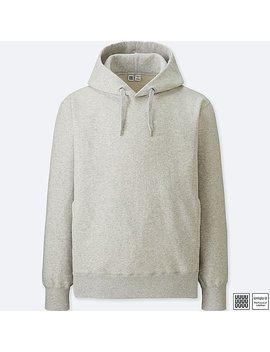 Men Uniqlo U 100 Percents Cotton Long Sleeve Hooded Sweatshirt by Uniqlo