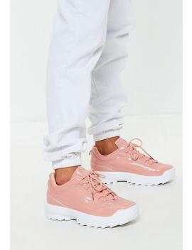 Pink Patent Chunky Trainers by Missguided