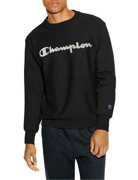 Reverse Weave Crewneck Cotton Blend Sweatshirt by Champion
