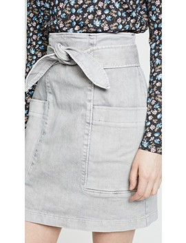 Denim Knot Skirt by La Vie Rebecca Taylor