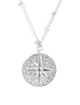 North Star Medallion Necklace by Argento Vivo