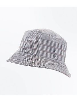 Grey Prince Of Wales Bucket Hat by New Look