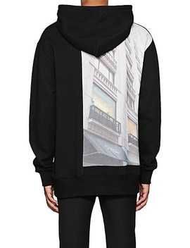 Graphic Cotton Blend Hoodie by Wil Fry