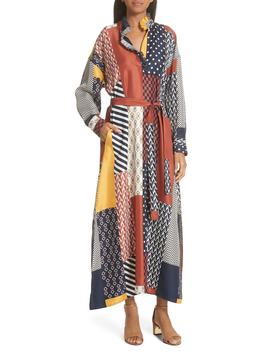 Bianca Patchwork Maxi Dress by Tory Burch