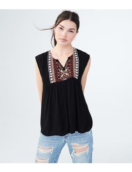 Embroidered Peasant Tank by Aeropostale