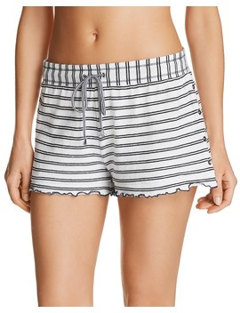 Stripe Knit Pajama Shorts by Splendid