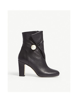 Bethanie 85 Leather Ankle Boots by Jimmy Choo