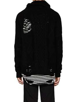 Distressed Wool Blend Oversized Sweater by Nsf