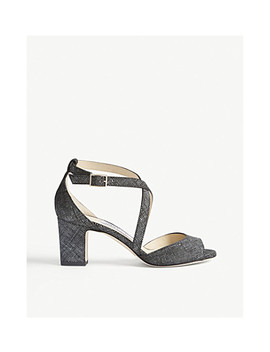 Carrie 65 Canvas And Leather Heeled Sandals by Jimmy Choo