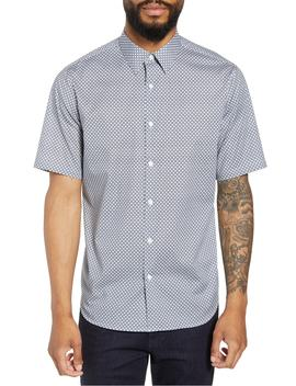 Menlo Halldale Slim Fit Stretch Short Sleeve Sport Shirt by Theory