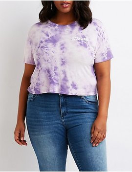 Plus Size Tie Dye Honey Tee by Charlotte Russe