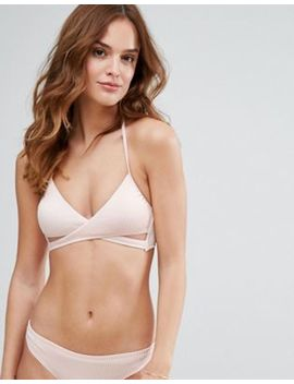 New Look Rib Wrap Around Bikini Top by New Look