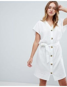Monki Button Front Cotton Dress by Monki