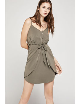 Front Tie Shirred Dress by Bcbgeneration