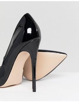 Zapatos De Salón De Charol Negro Sachi De Public Desire by Asos
