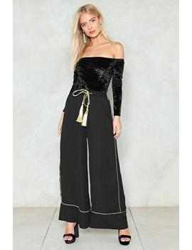 Let's Get Stitched Wide Leg Pants by Nasty Gal