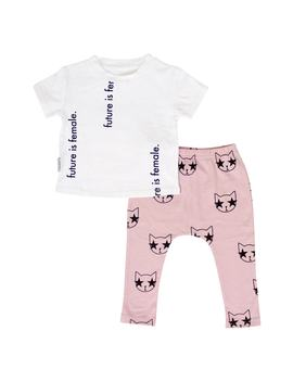 Future Is Female Tee & Legging Set by Tiny Tribe
