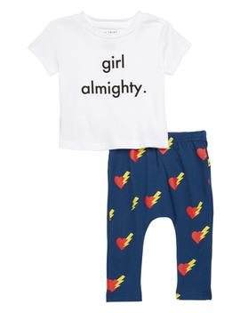 Girls Almighty Tee & Leggings Set by Tiny Tribe