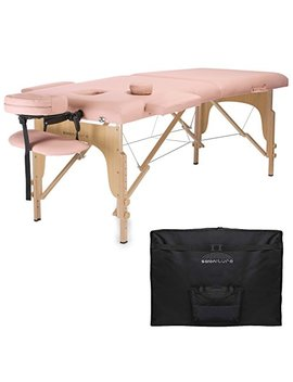 Saloniture Professional Portable Folding Massage Table With Carrying Case   Pink by Saloniture