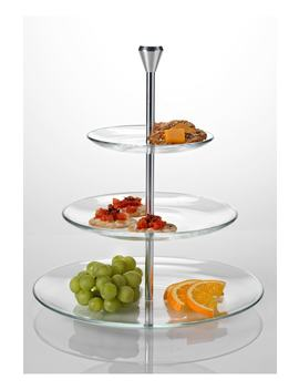 Michelangelo Three Tier Serving Tray by Luigi Bormioli