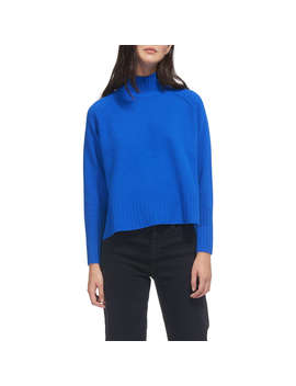 Whistles Funnel Neck Wool Jumper, Blue by Whistles