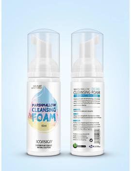 Pressure Pump Design 60ml Eyelash Foam Cleanser Marshmallow Eyelash Shampoo Foam Eyelash Facial Cleanser by Stars Colors