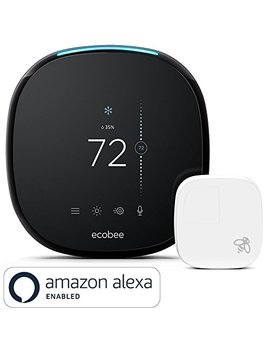 Ecobee4 Smart Thermostat With Built In Alexa, Room Sensor Included by Ecobee