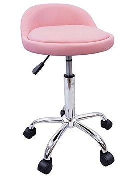 Dev Lon North West Salon Stool With Back Rest Saddle Hydraulic Spa Stool (Light Pink) by Dev Lon North West