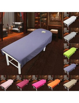 80*190cm Cosmetic Salon Sheets Spa Massage Treatment Bed Table Cover Sheets With Hole by Houseen