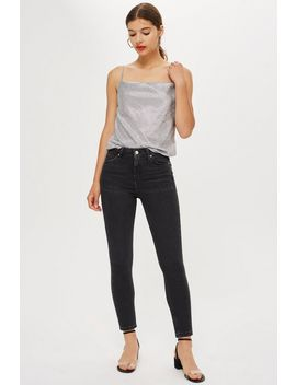 Petite Washed Black Jamie Jeans by Topshop