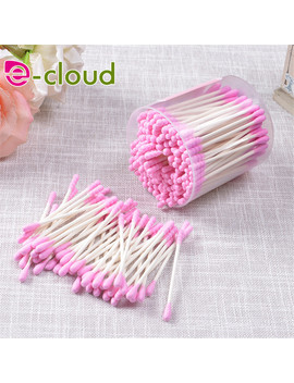 200pcs-pink-and-blue-color-cosmetic-cotton-swab-double-head-ended-clean-cotton-buds-ear-clean-tools by huamianli