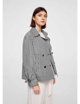 Veste Double Boutonnage à Carreaux by Mango