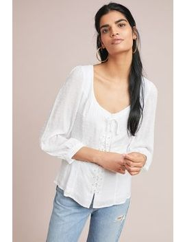 Lisette Lace Up Blouse by Maeve