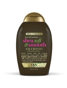 Thick Coarse Hair Frizz Defy/Moisture + Shea Soft & Smooth Shampoo   13oz by Ogx