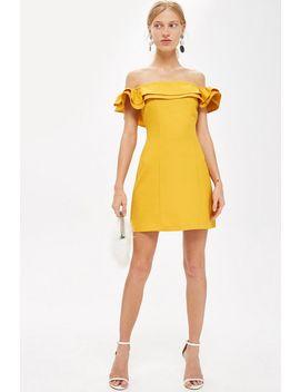Petite Ruffle Bardot Mini Dress by Topshop