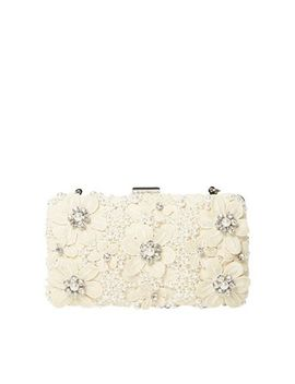 Dorothy Perkins   Ivory Floral Box Clutch Bag by Dorothy Perkins