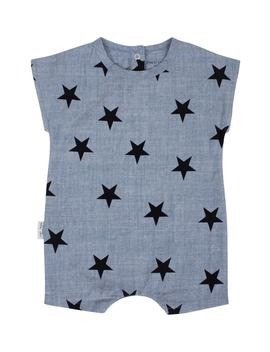 Chambray Star Romper by Tiny Tribe