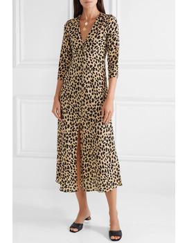 Katie Leopard Print Silk Crepe Dress by Rixo London