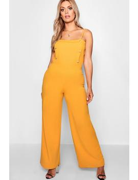 Plus Isobel Button Front Jumpsuit by Boohoo