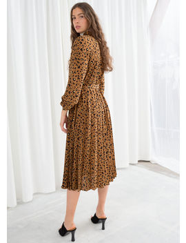 Leopard Pleated Midi Dress by & Other Stories