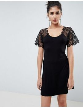 Asos Design Corded Lace Fit And Flare Mini Dress by Asos Design