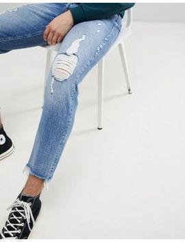 Jack & Jones Intelligence Tapered Fit Jeans With Heavy Distressing by Jack & Jones